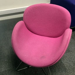 soft seating reupholstered - before