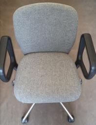 office chair new fabric - after