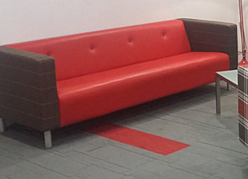 office sofa reupholstery - after
